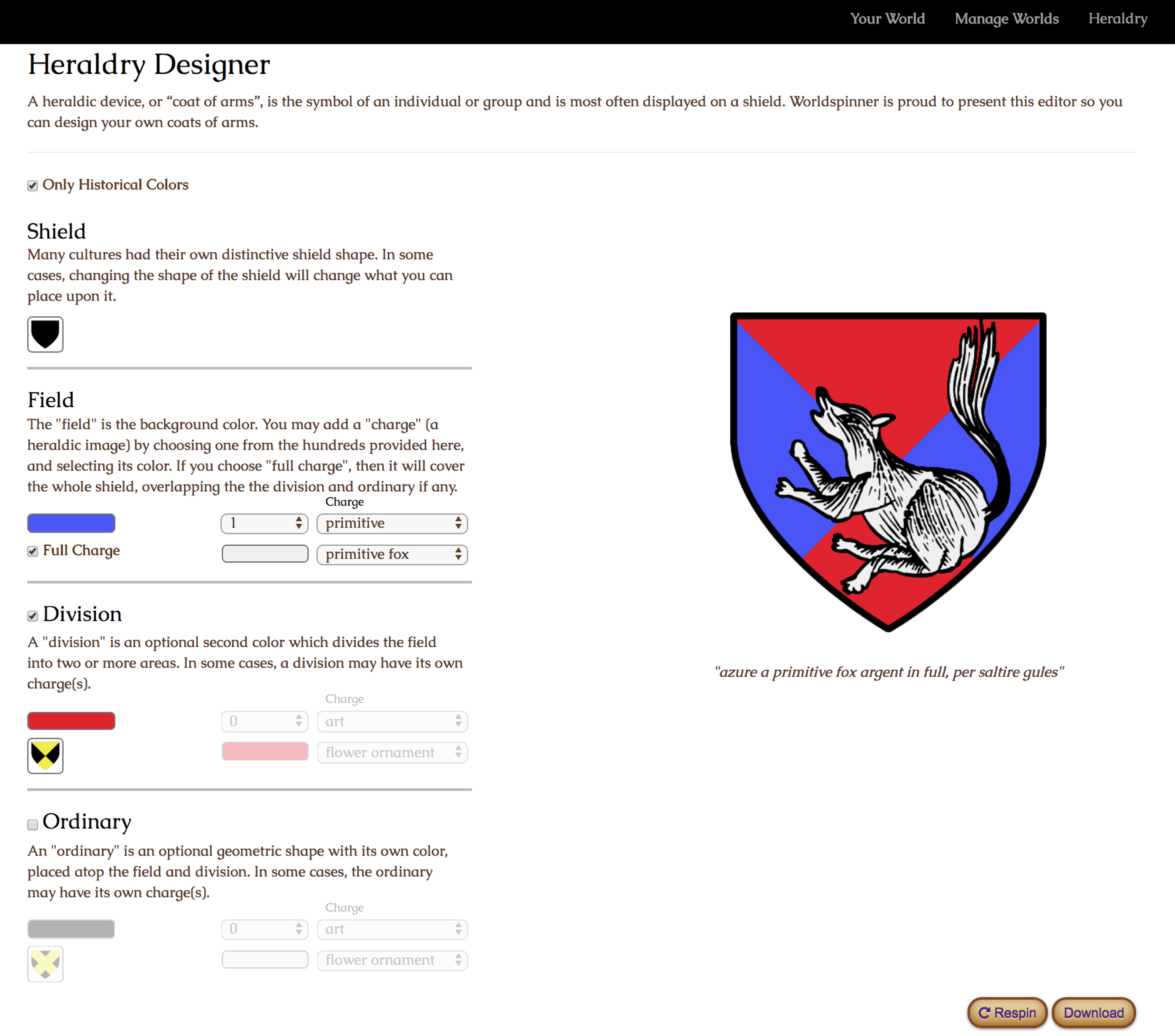 Fantasy map and worldbuilding examples the full heraldry editor allows you to choose from hundreds of charges which when combined with a variety or arrangements and colors allows you to create biocorpaavc Gallery